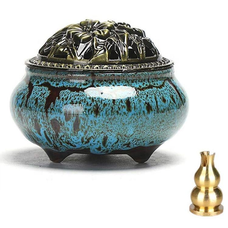 Porcelain Incense Holder Coil Ceramic Home Incense Burner