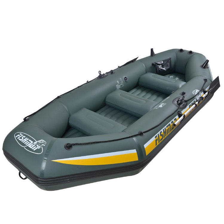 Wholesale PVC clip-net thickened rubber inflatable boat wear-resistant folding kayak 5person air fishing boat