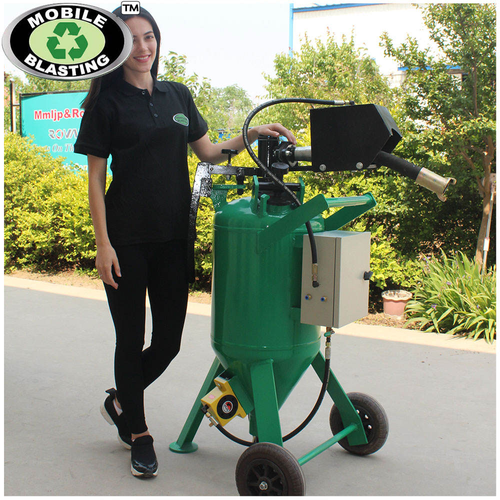 Best quality dustless blasting mobile sand blaster DB150 DB225 DB500 DB800 DB1500 DB3000 with high efficiency
