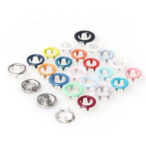 Oeko-Tex 100 Customized Brass Metal Prong Ring Snap Button for Clothes