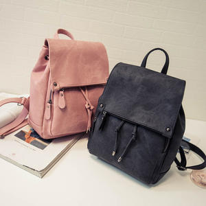 Backpack Handbags Bags Korean Ladies Hand Version Bucket Retro All-match PU Leather Shoulder Student School Bag