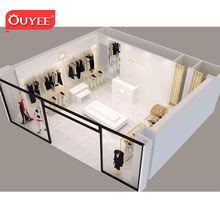 High End Clothes Display Furniture Retail Custom Ladies Brass Clothing Racks For Sale