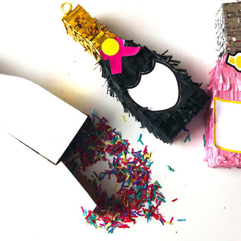 Handmade Excellent Colorful Wedding Party Favors Champagne Bottle Pinata In Various size
