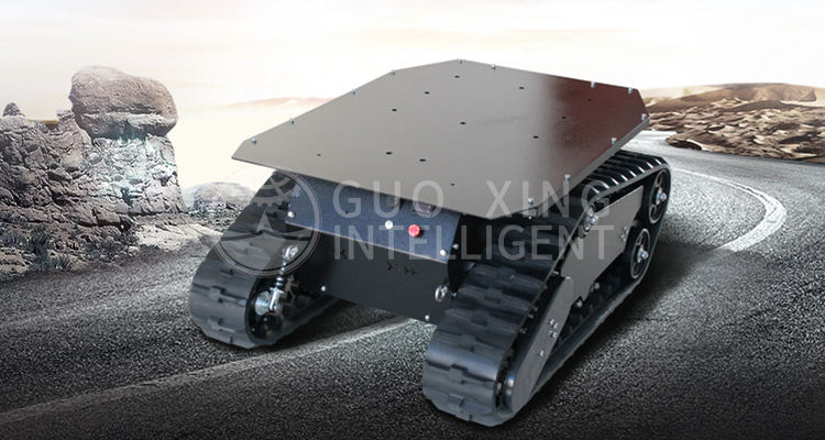 Safari 880T enhance rubber track robot security robot patrol