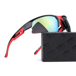 UV 400 Outdoor PC Lenses Safety Sports Sunglasses Hot Selling Customized Sun Glasses