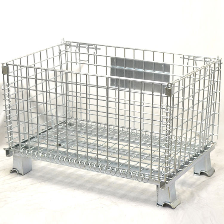 Manufacture wire mesh container lockable storage cage for sale