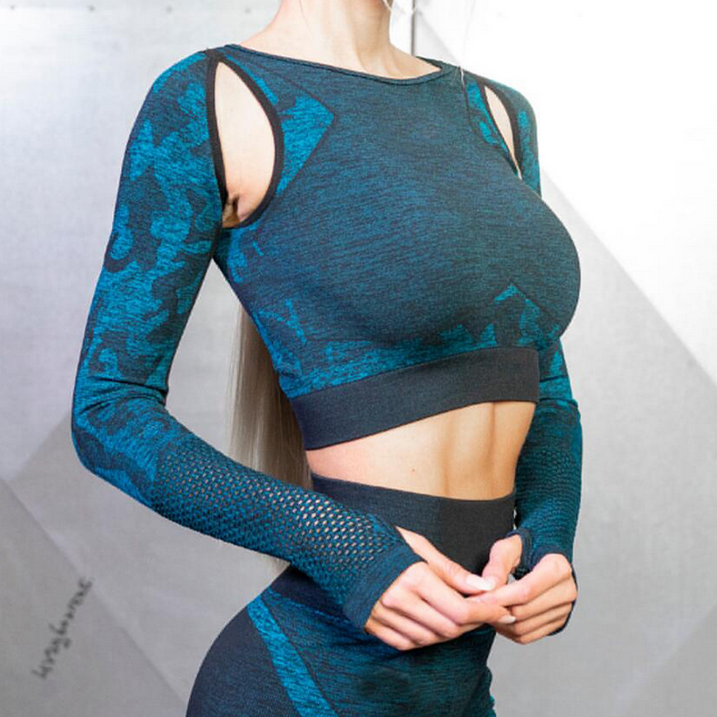 As comfort As second skin Lightweight Breathable Women Seamless knit Sexy Customs Workout Wear Manufacturer