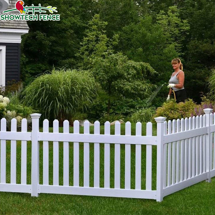 plastic pvc picket fence panel with gate,scallop vinyl picket fence white