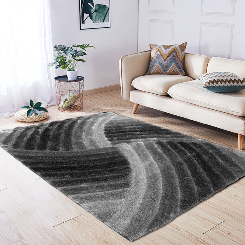 soft shaggy with modern design polyester shaggy 3D carpet 3D carpet for living room soft shaggy 3D area rug