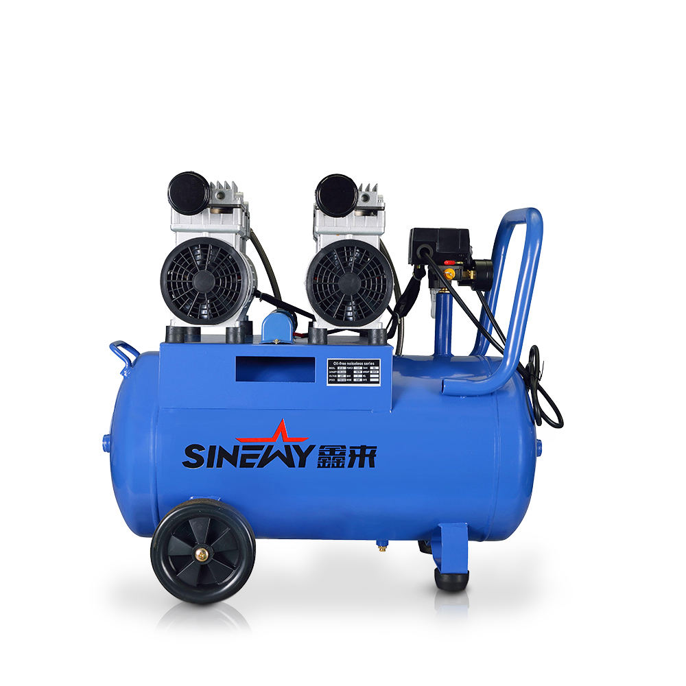 Best price portable home spray paint electric 6 bar 50l piston silent oil free air compressor for sale