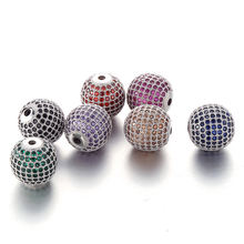 Factory Custom Zircon Vintage Metal Bead Charm for Jewelry Making