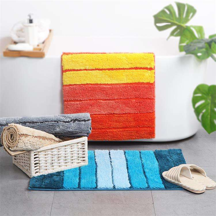 High quality japan eco-friendly soft colorful stripes fashion bathtub bath non slip mat