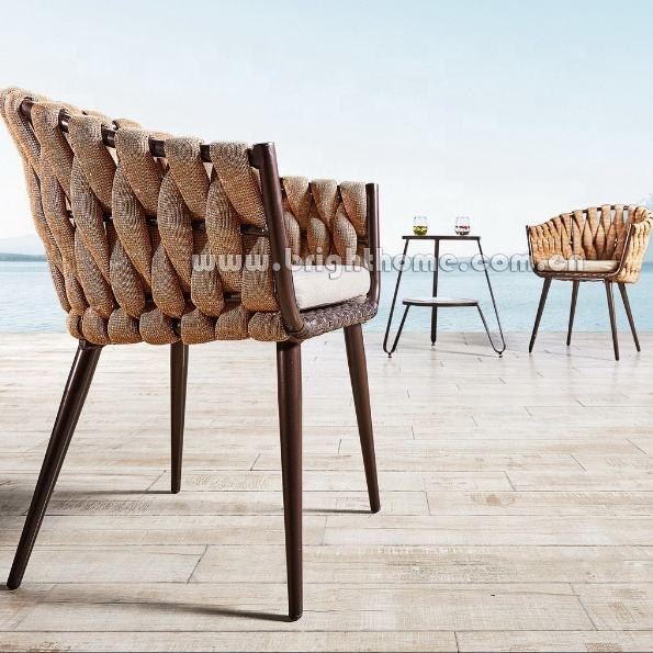 PE rattan Wicker Weaving dining chairs outdoor furniture factory
