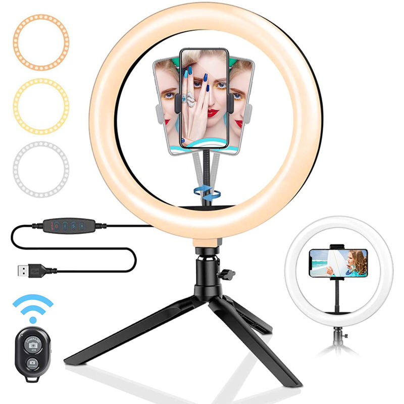 Wholesale 10 inch Photographic Selfie Led Ring Light photographic lighting anillo de luz selfie ring light With Tripod Stand
