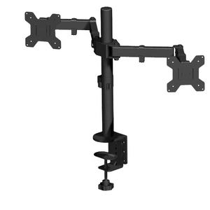 Double LCD Monitor Twin TV Arm Desk Mount  Computer Screen Bracket