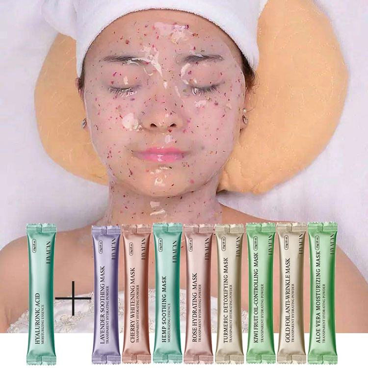 Korean diy spa organic collagen rose hyaluronic acid soft mask powder face mask jelly sheet rubber facial mask