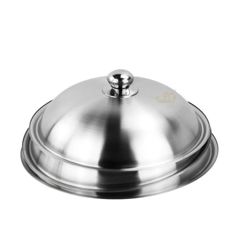 Hottest Stearmer Cookware Woks Pan Cover Stainless Steel Pot Lids with Heat Resistant Handle