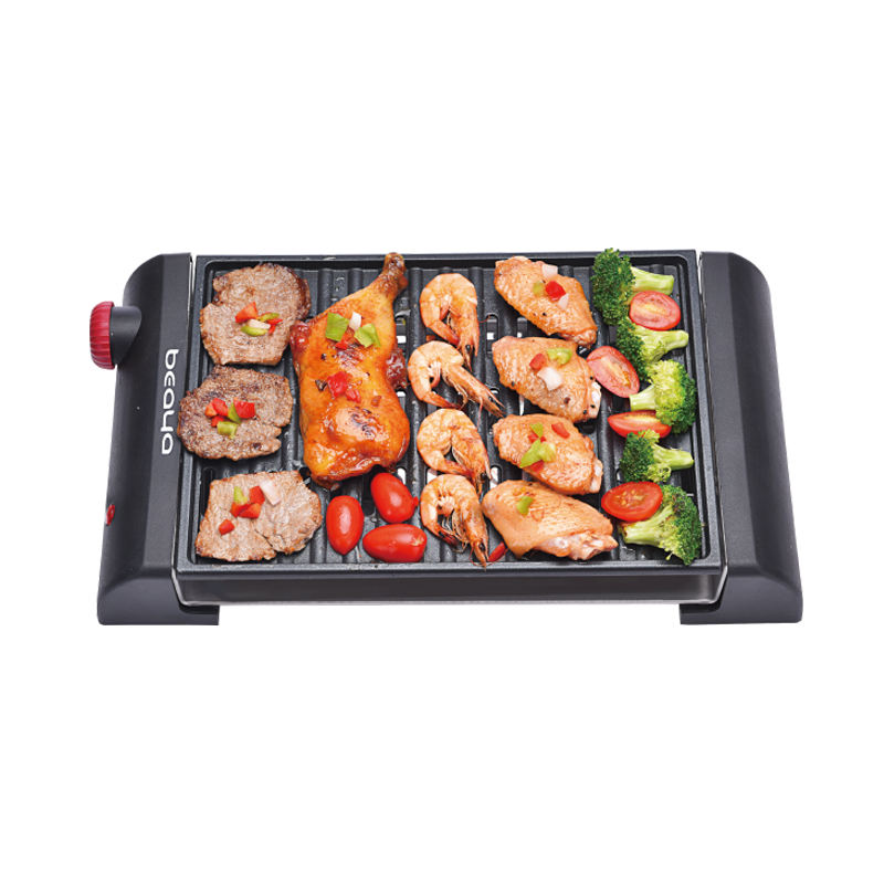 800w New design Indoor Electric Korea BBQ Grill with Nonstick frying pan