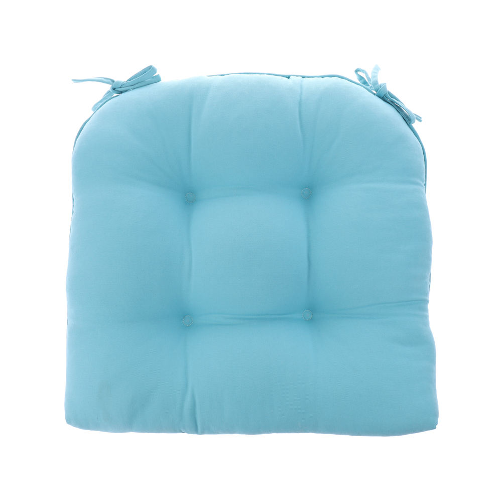 Recycled Qualified Grade and Spring/Autumn Season Decor Indoor Light Blue Tufted Dining Chairs Cushion