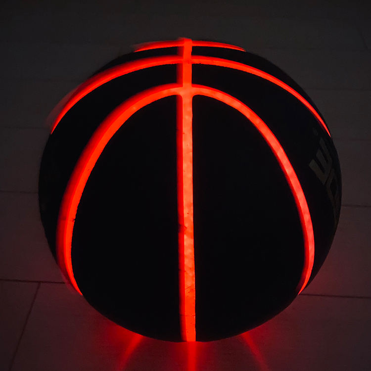 Glow Basketball New Official Size Custom Color Composite Leather Ball Custom Printed Logo Glow Basketball