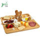 Bamboo Cheese Board Set Cheese Tray with 4 Stainless Steel Cheese Tools Wooden Serving Tray for Meat Fruits