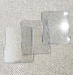 ID card Holder 3x4 inch Large Vertical Clear Plastic business case with toploading