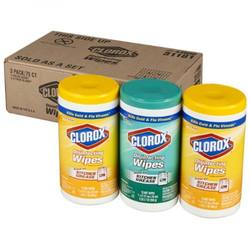 CLOROX disinfecting wet wipes/tough cleaning in a thick wet wipes/kills cold & flu viruses