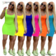 *GC-80962 2020 Wholesale African Women's Summer Dress Ladies Sleeveless Skirt Slim Fit Mini Tight Fashion Sexy Short Dress