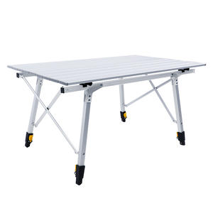 Hitorhike new arrival high quality adjustable folding table aluminum picnic table for outdoor hiking