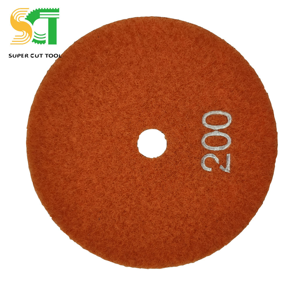 100mm High Efficiency Abrasive Buffer Pad Grades For Stone Tile