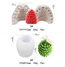 cake decorated  mold Christmas trees and pine cones Silicon  mold