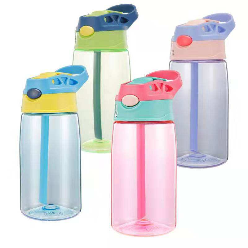 Custom Kids Water Bottle With Straw BPA Free Children Sport Water Drinking Kettle