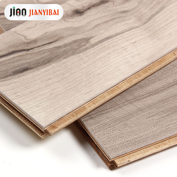 15mm waterproof E0 laminate wooden flooring J100 sleeping room engineered wood laminate floor