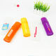 Bathroom Plastic Box Plastic Bathroom Supplies Candy Color Portable Dustproof Plastic Toothbrush Case Custom Logo Travel Toothbrush Box