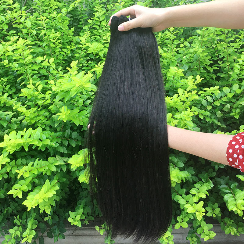 Wholesale price super 10A double drawn unprocessed natural virgin bundles raw human hair bundles with closure