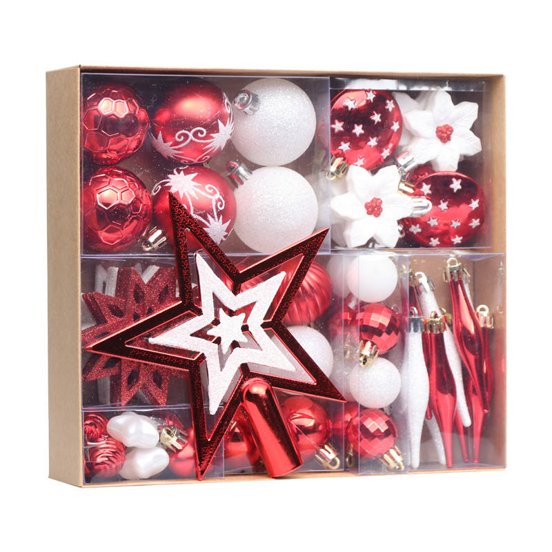 Decoration Made In Yiwu Shuangyuan High Quality Luxury 58pcs Plastic Christmas Ball Decoration
