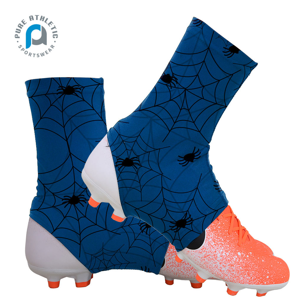 Pure groothandel custom 100% polyester sublimatie amerikaanse voetbal cleat covers spats