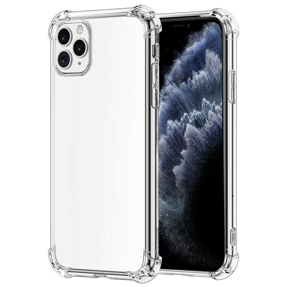 Airbag Ontwerp Zachte Transparante Tpu Case Cover Volledige Protector Rubber Crystal Clear Phone Case Voor Iphone 11 Pro Max