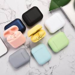 New Arrival Macaron Inpods 12 Earpods tws Wireless Earphone Bluetooth Earbuds i12 With Touch Control Blue Pink Green Yellow