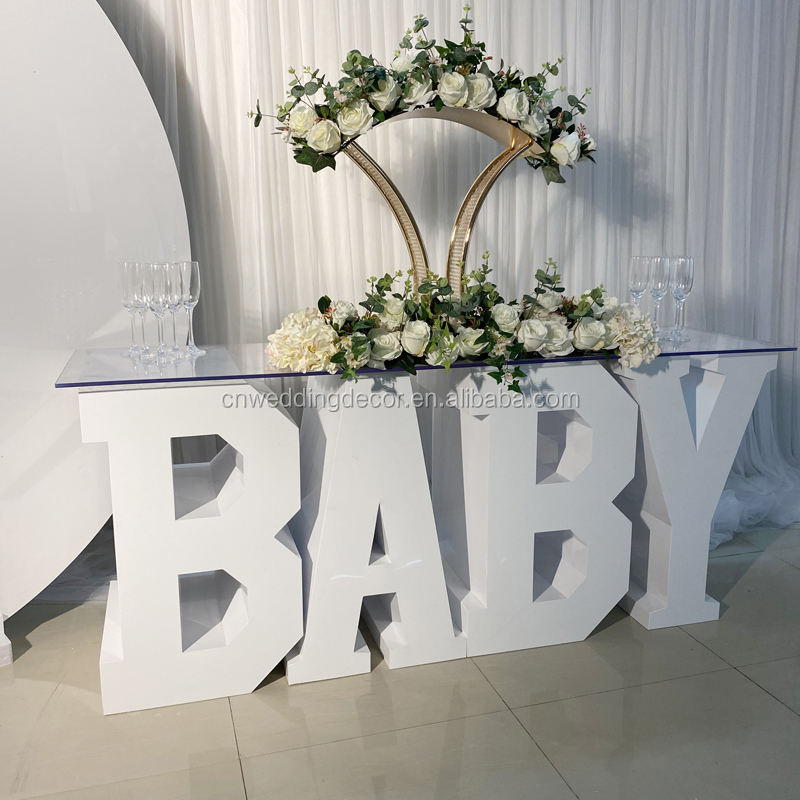Customized A to Z letter BABY letter table wedding love table for party supplies decorations