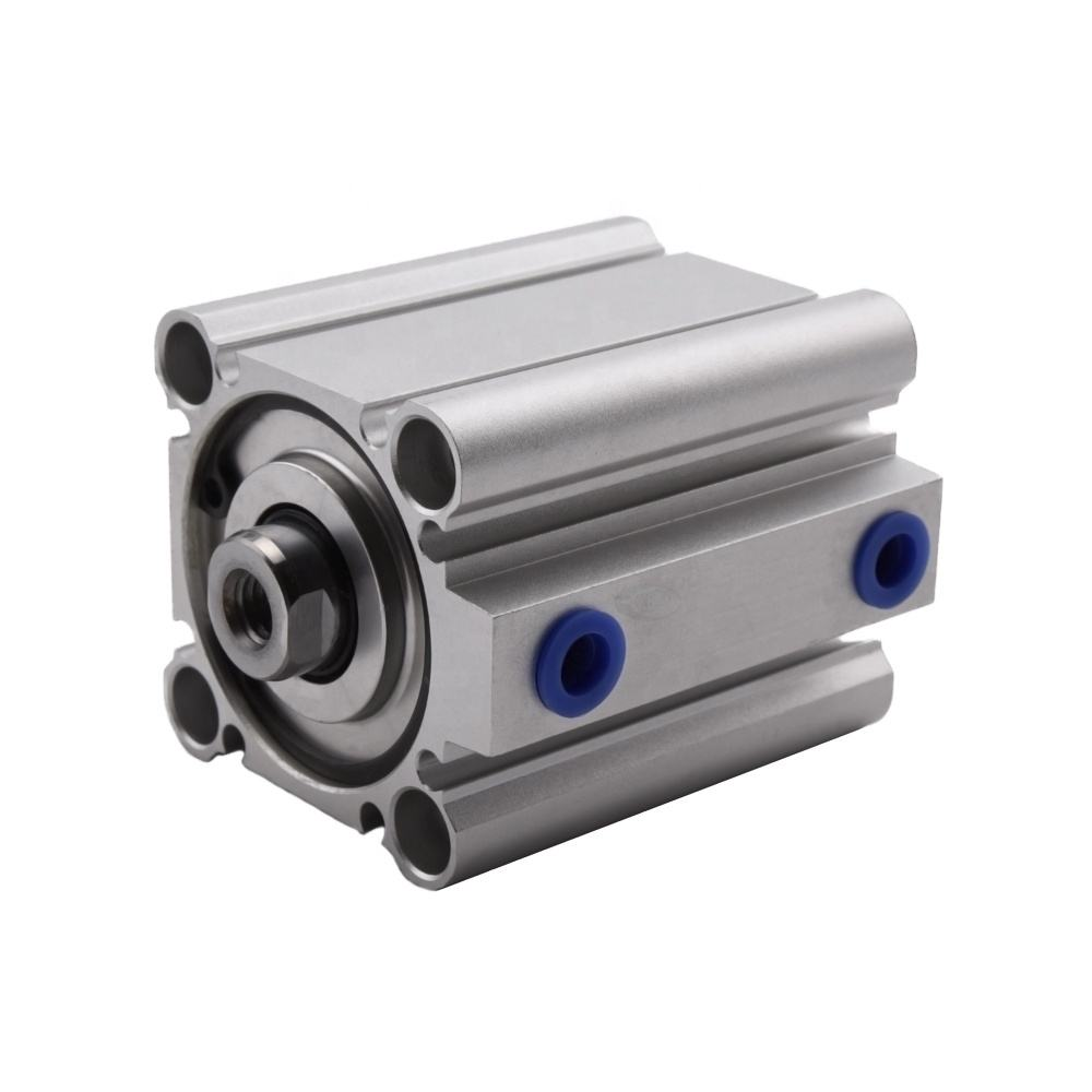 CQ2B Series thin Compact Aluminum Alloy Pneumatic Cylinder Pistons double acting air cylinder