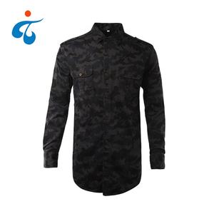 Turn-down collar 100% cotton custom digital printed outdoor casual camo hunting long sleeve shirt