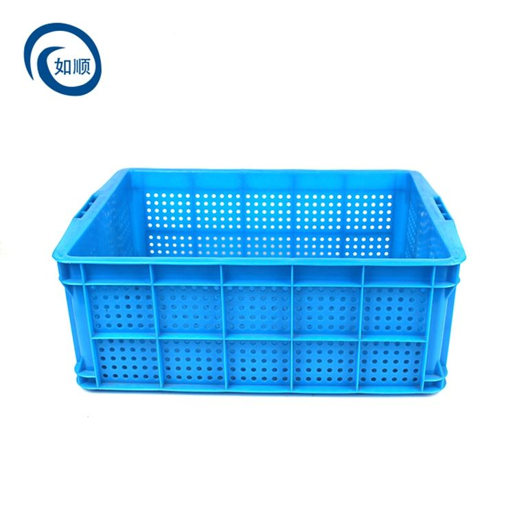 Transportation logistics plastic basket thickened rectangular fruits and vegetables turnover box lobster round hole basket