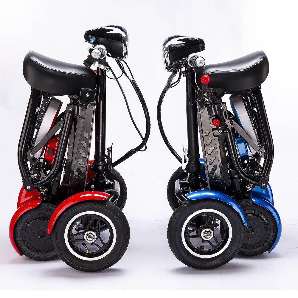 enhance foldable perfect travel transformer 4 wheel electric folding mobility scooter