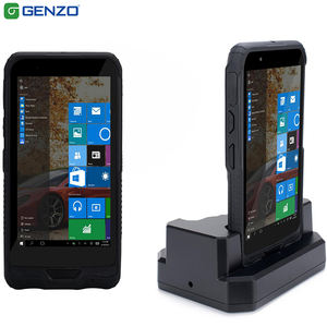 Portable 6 inch industrial handheld nfc pda with courier barcode scanner for windows mobile pda