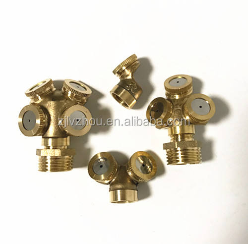 Brass micro agriculture mist water spray nozzle 1/2/3/4-way