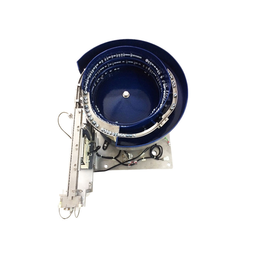 Vibratory bowl feeder with pneumatic free noise cover