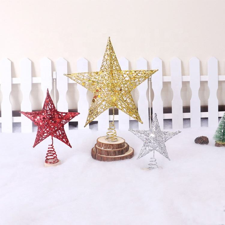 2020 Heet Verkoop Metalen Zoals Ornament Kerstboom Top Ster Voor Kid 'S Room Decor