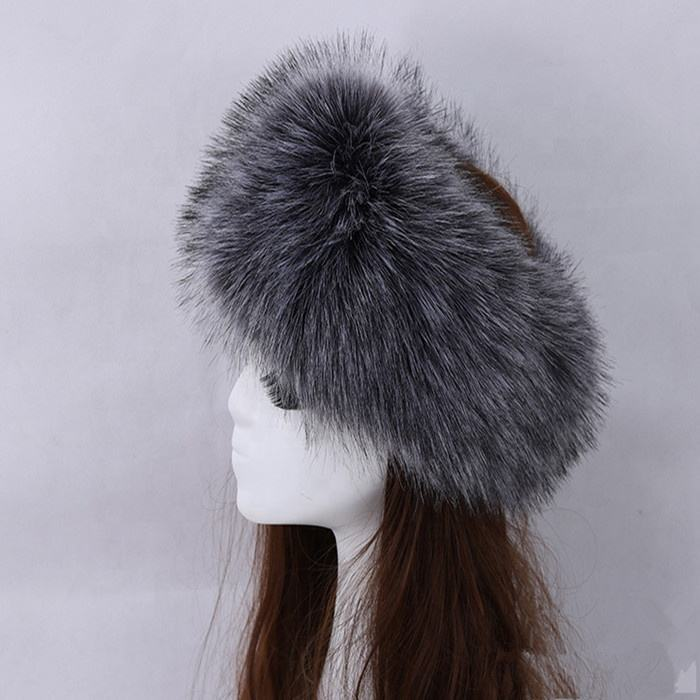 High Quality Wholesale Hair Accessories winter ladies womens russian warm faux fur headband