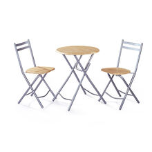 Modern Metal Round Mdf Folding Dining Table And Chairs For Room